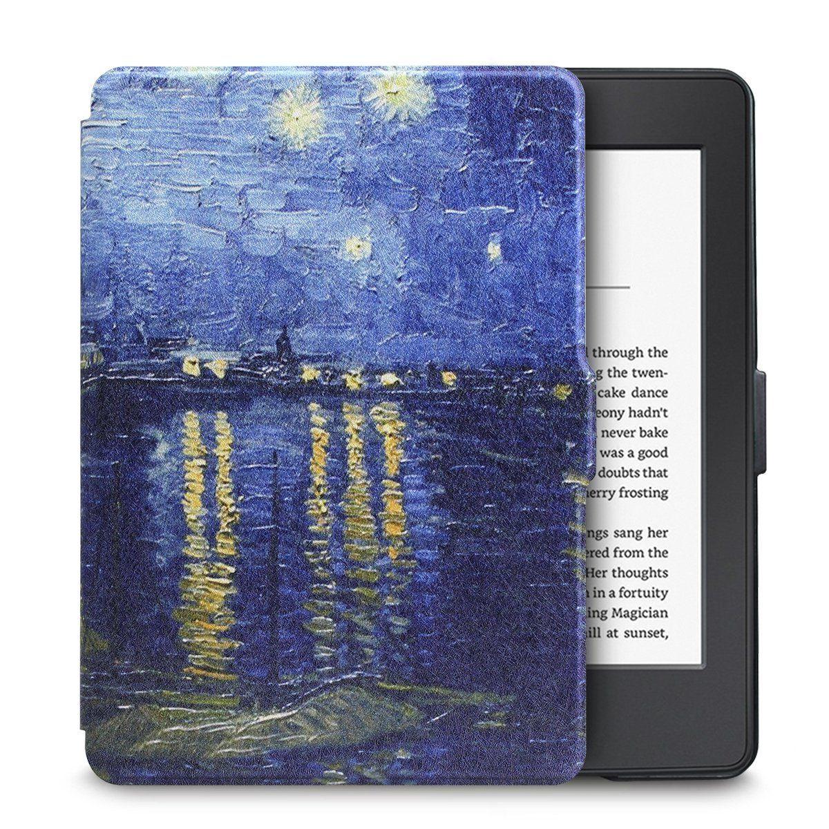 Чехол-обложка  для Amazon Kindle Paperwhite (Голубая Ночь)